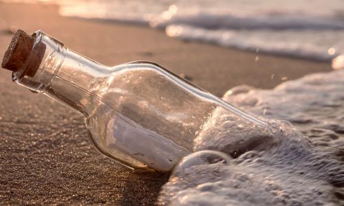 Две женщины нашли на берегу моря душераздирающее послание в бутылке